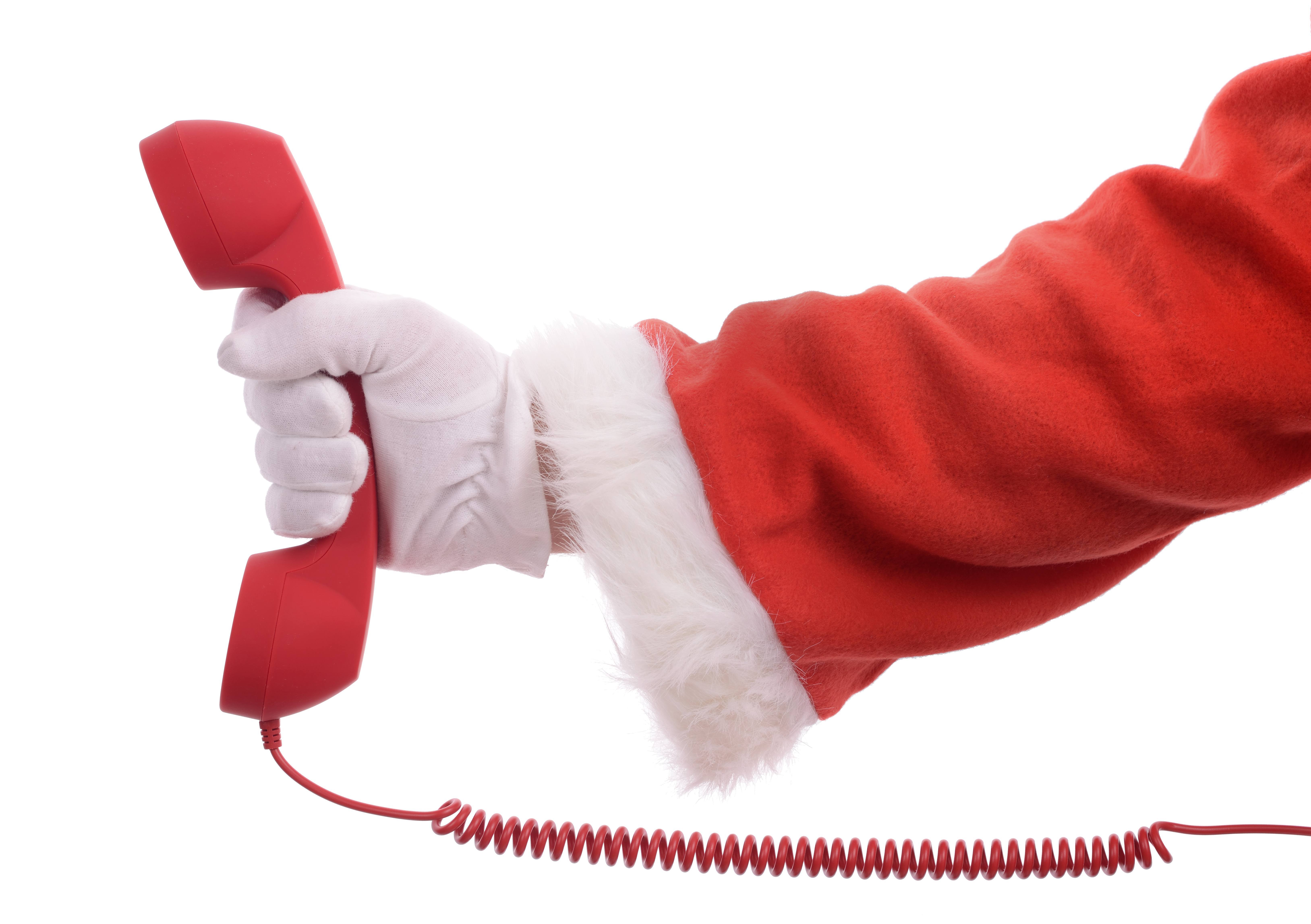 holiday on hold santa phone